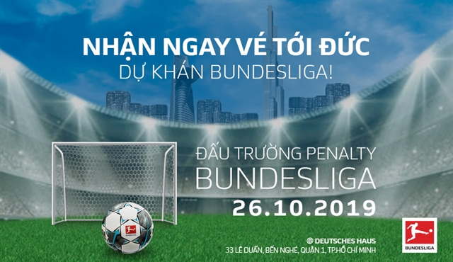 Bundesliga to holdfirstpenalty shoot-out competition in Việt Nam