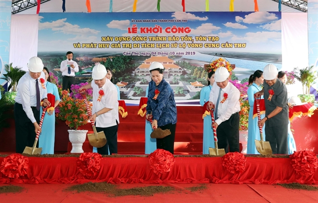 NA leader attends ceremony to kick off work on Cần Thơ historical site
