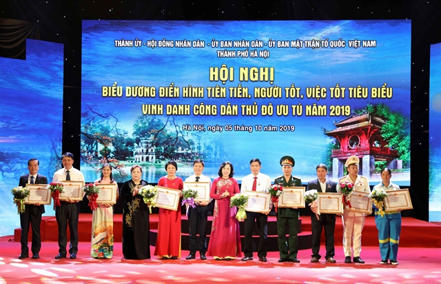 Hà Nội honours 10 outstanding citizens of 2019