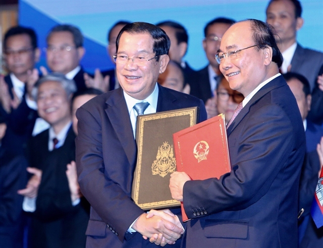 Vietnamese Cambodian PMs chair conference reviewing border demarcation