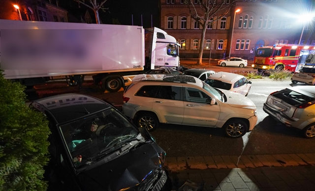 Stolen truck slams into cars in Germany several injured: police