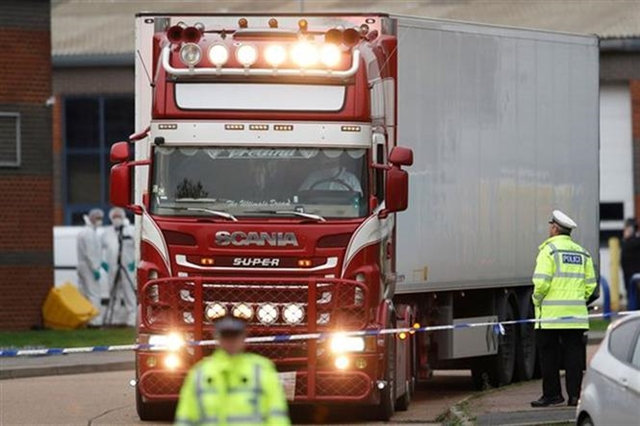 Two detained for suspected involvement in UK lorry deaths