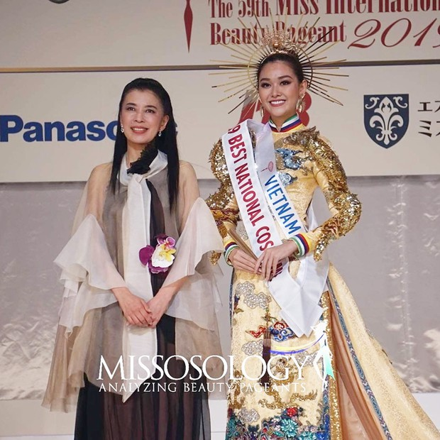 Miss Vietnam wins best national costume in Miss International 2019