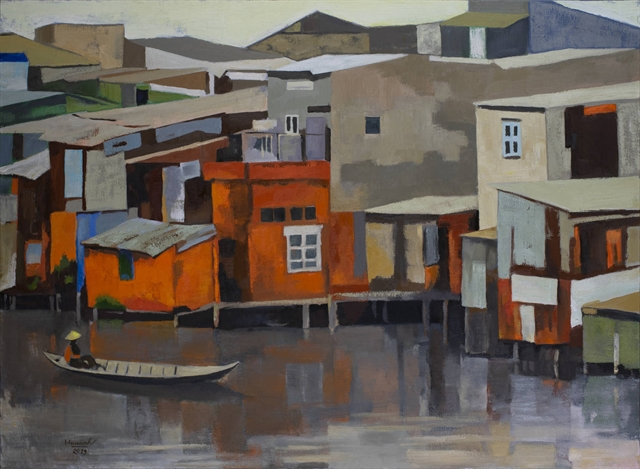 Oil paintings of rural scenes at Apricot Gallery