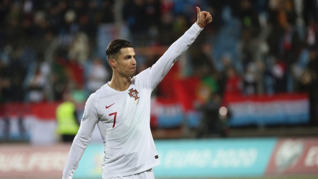 Ronaldo scores 99th Portugal goal as holders seal Euro 2020 spot