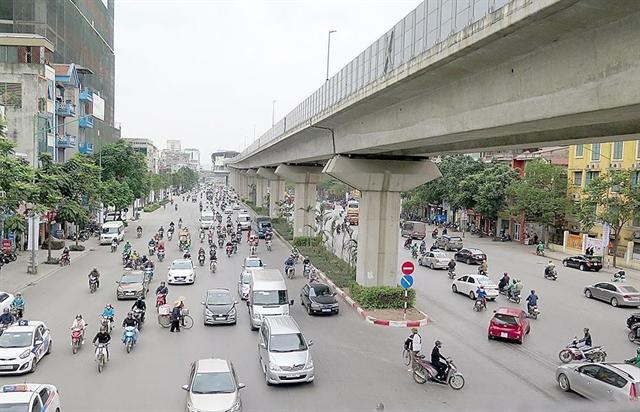 Hà Nội spends 4.7m to upgrade road under Cát Linh – Hà Đông railway project