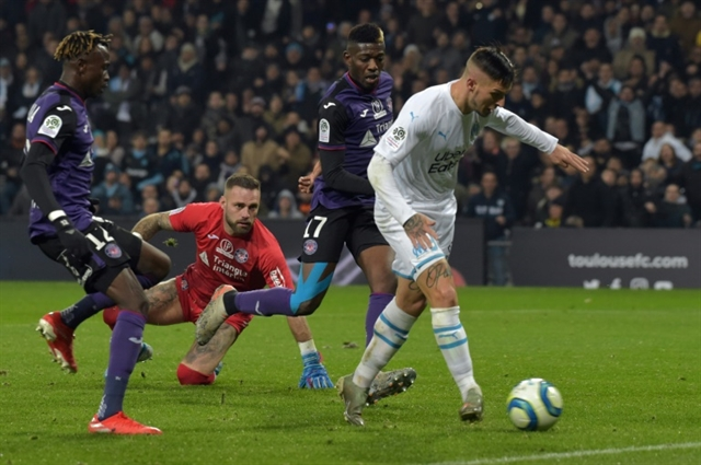 Marseille retake second place in Ligue 1 with Toulouse win