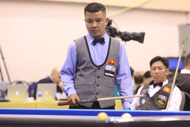 Chiến and Nguyện win first match at three Cushion Billiard World Championships