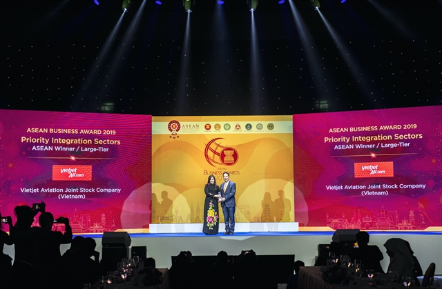 Vietjet honoured as ASEANs best aviation enterprise in 2019