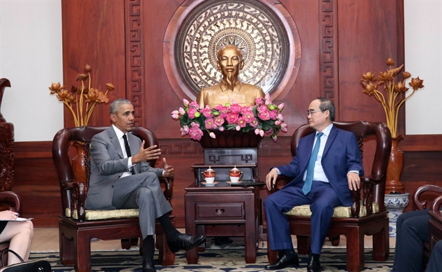 HCM City Party leader receives former US President