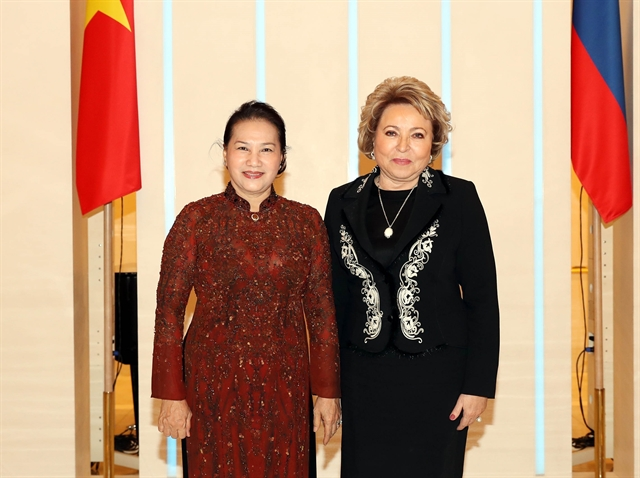 Vietnamese Russian top legislators hold talks