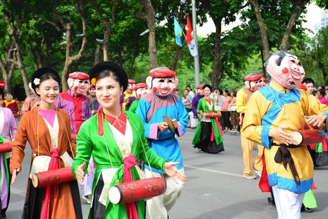 Folk festival in downtown Hà Nội