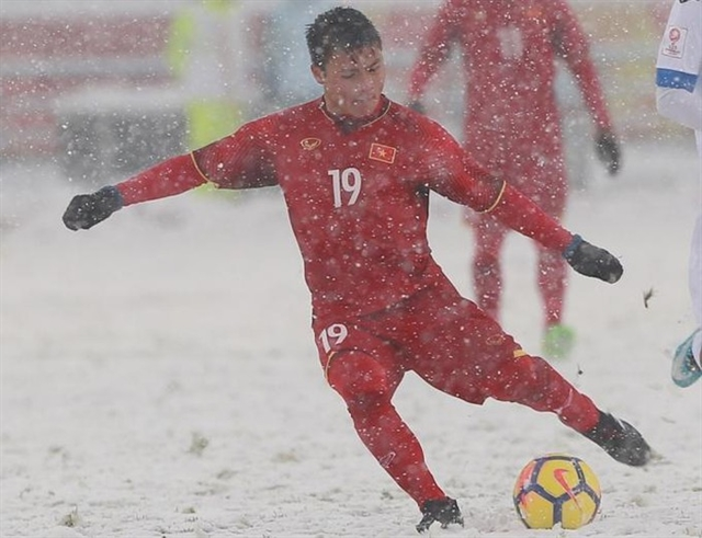 Hảis goal in the snow selected as one of eight iconic strikes atAFC U23 Champs