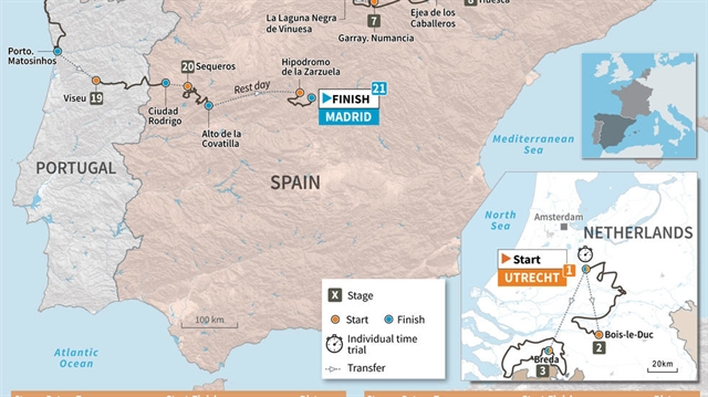 Vuelta a Espana 2020 takes in Netherlands France and Portugal
