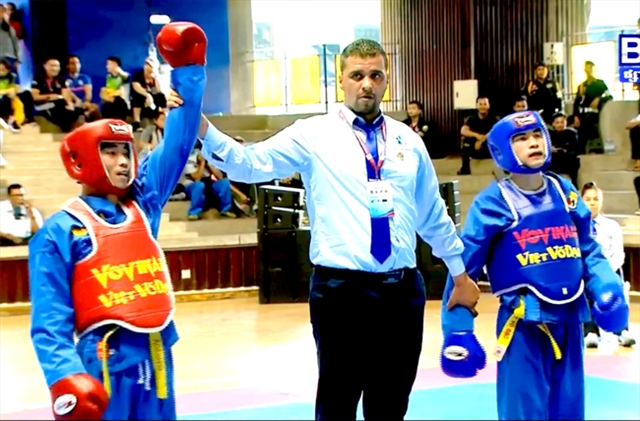 Athletes compete at World Vovinam Championship