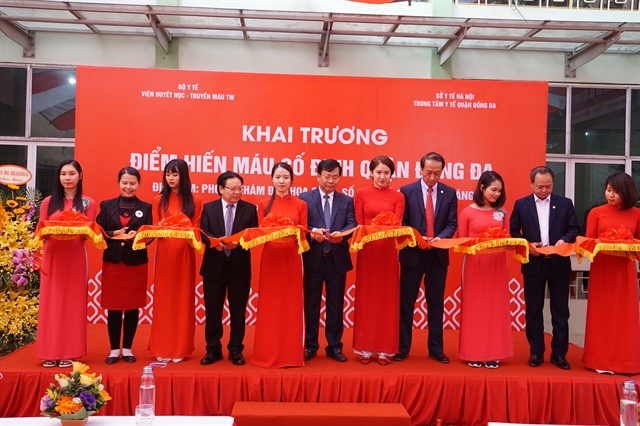 Hà Nộis third fixed blood donation point opens in Đống Đa District
