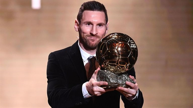 Lionel Messi wins Ballon dOr for sixth time