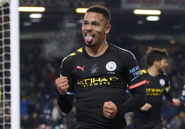 Jesus finds goal touch as Man City bounce back to thrash Burnley
