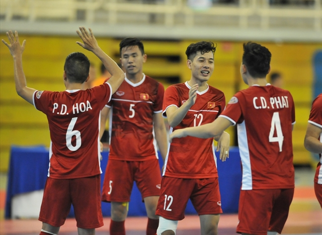 Futsal players prepare for international competitions