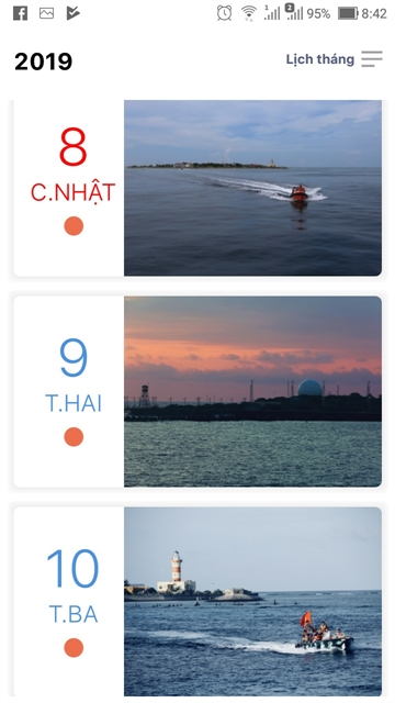Calendar app inspired by Trường Sa (Spratly) Archipelago launched