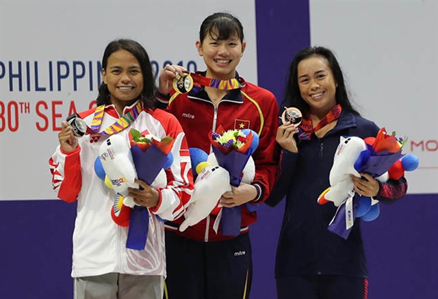 Swimmer Viên makes a double at SEA Games