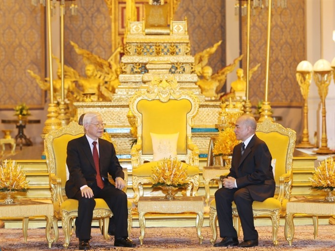 Party leader in talks with Cambodian King