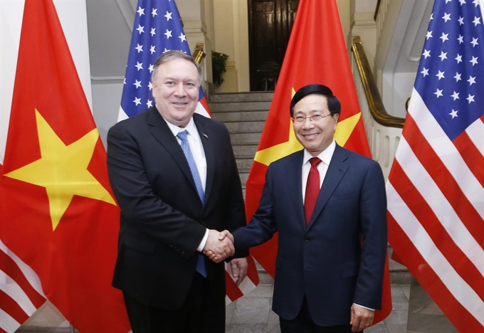 Deputy PM Minh holds talks with US Secretary of State