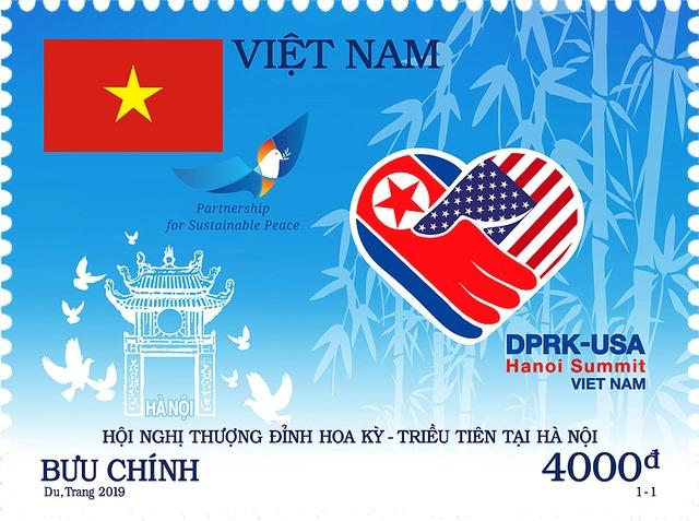 Stamp celebrating Trump-Kim summit issued