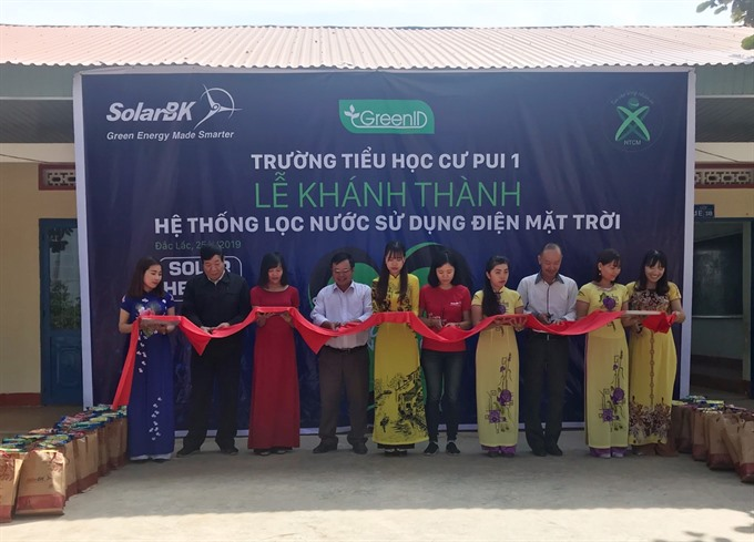 Ethnic primary school students benefit from clean energy