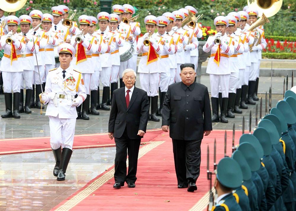 Top leaders welcome DPRK Chairman