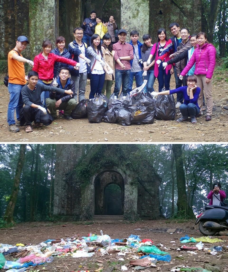 trashtag challenge accepted in Hà Nội