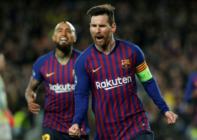 Messi proves too much for Lyon as Barcelona reach Champions League quarters