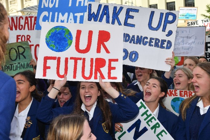 Global climate rally kicks off with kids Down Under