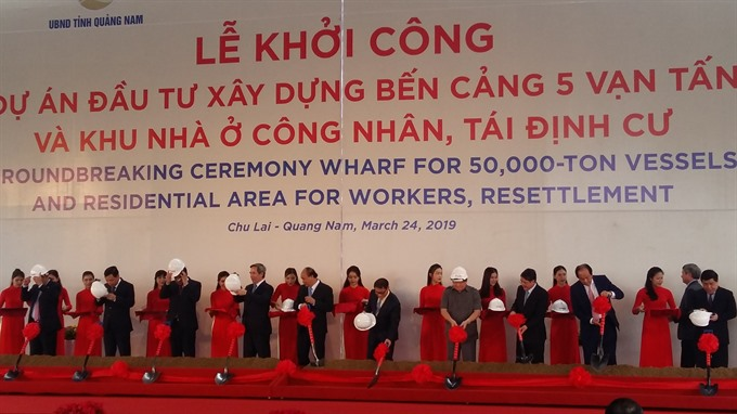 Construction starts on four key projects in Chu Lai OEZ