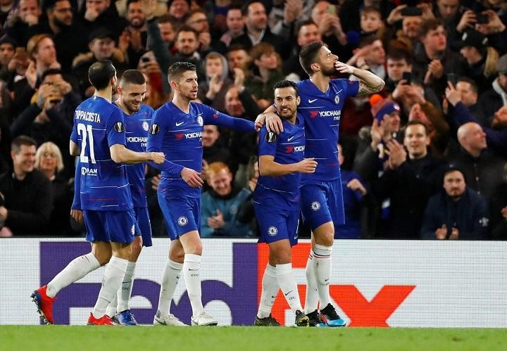 Chelsea cruise past Dynamo Kiev towards Europa League quarters
