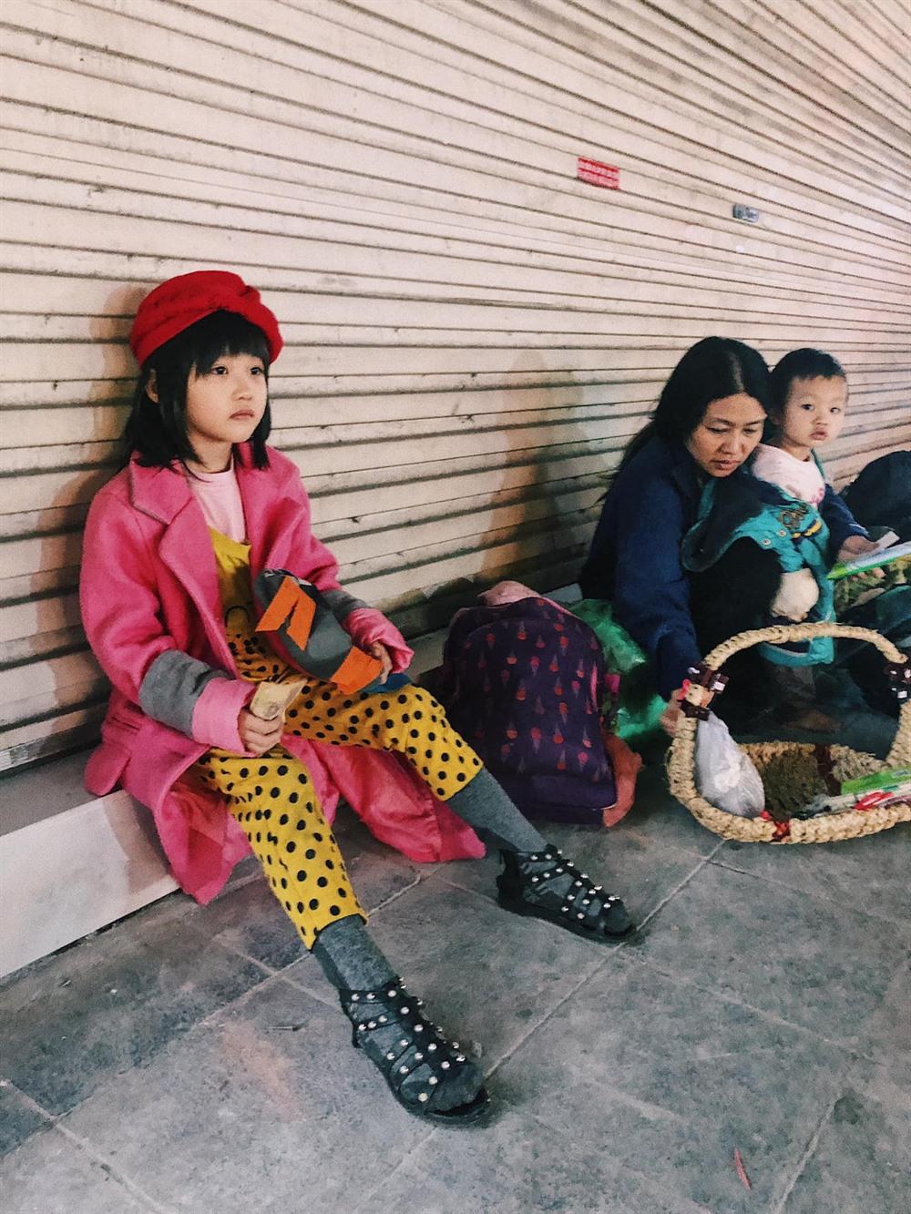 A six-year-old fashion star