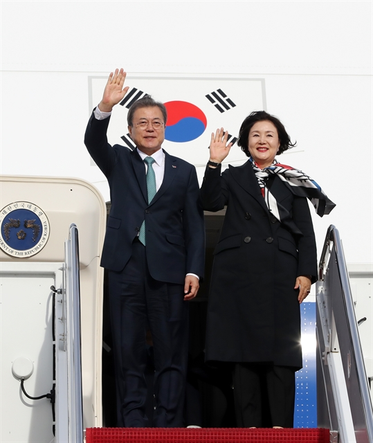 Moon arrives in US to meet Trump on stalled N. Korea dialogue