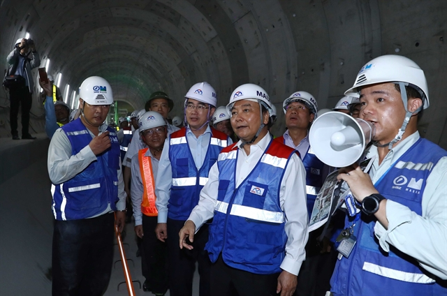 PM inspects construction of HCM Citys Metro Line No.1