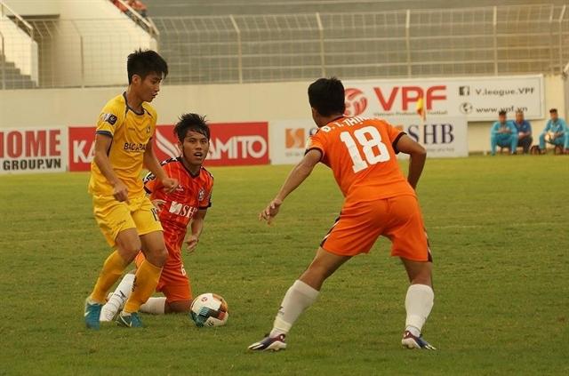 SLNA beat Đà Nẵng to climb to second in V.League 1