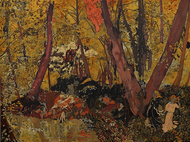 Vietnamese-style lacquer paintings sell for high prices at Sothebys