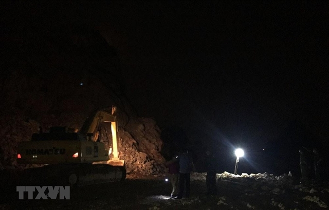 Quảng Ninh stone miner died in a rockslide