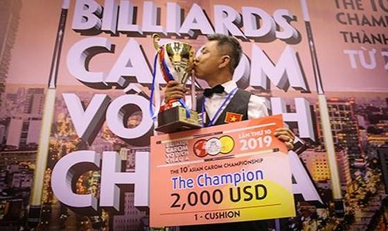 Cẩm wins tenth Asian Carom Champ
