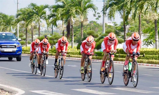 VUS Hồ Chí Minh City win eleventh stage of HCM City cycling event