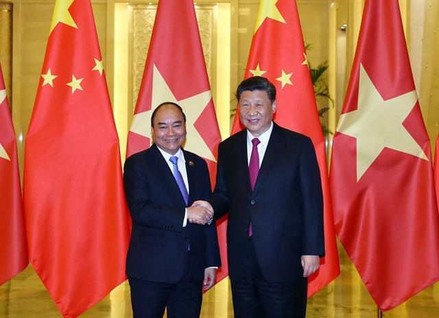 PM Phúc meets Chinese Party chief and President Xi Jinping in Beijing