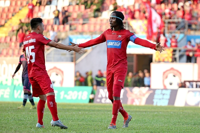 Hải Phòng win after last minute strike