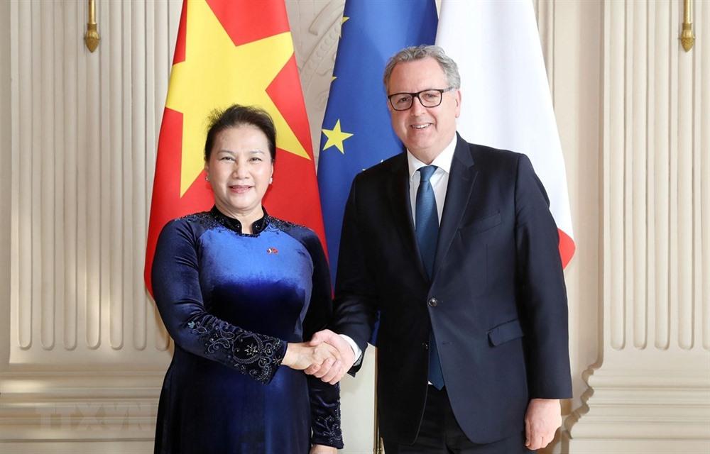 Vietnamese French top legislators hold talks