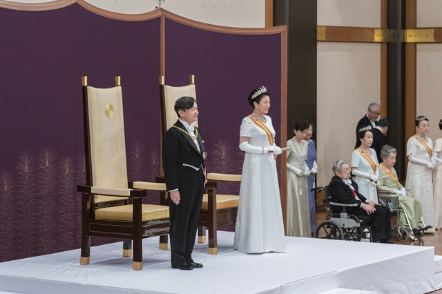 New Emperor Naruhito vows to stand with people