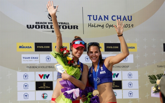 Russians win volleyball world tour in Tuần Châu island
