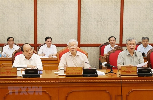 Party leader President presides over Politburo meeting