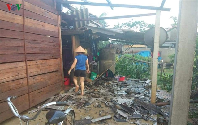 Whirlwind damages houses in central provinces